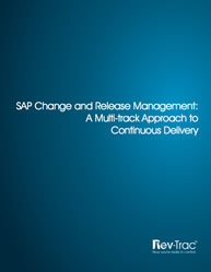 SAP Change and Release Management: A Multi-track Approach to Continuous Delivery