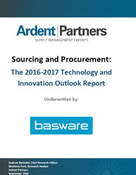 Sourcing and Procurement: The 2016-2017 Technology and Innovation Outlook Report