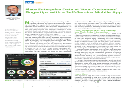 Place Enterprise Data at Your Customer's Fingertips with a Self-Service Mobile App