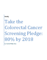 Take the Colorectal Cancer Screening Pledge: 80% by 2018