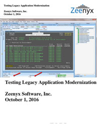Testing Legacy Application Modernization