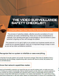 The Video Surveillance Safety Checklist